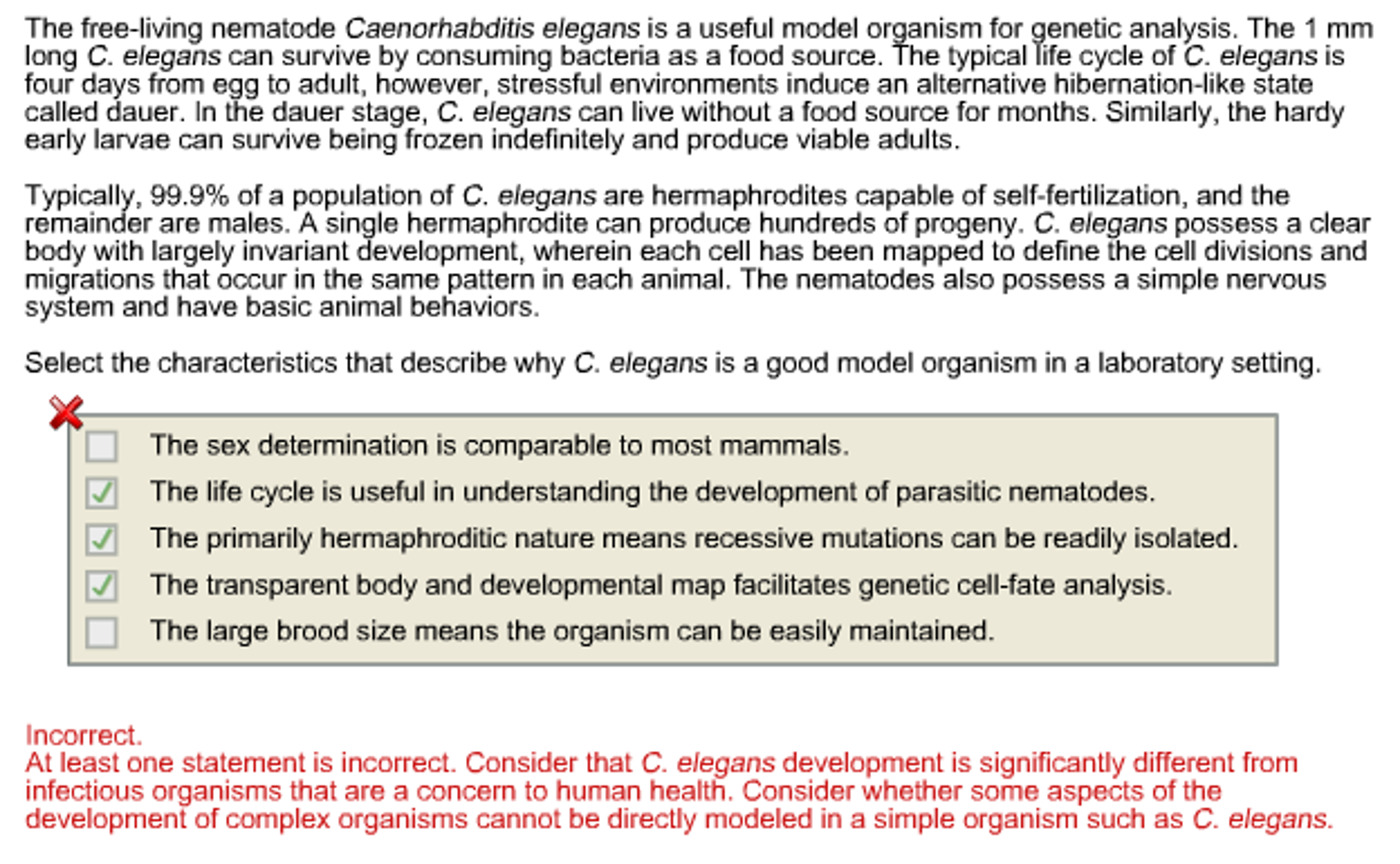 Solved  Select The Characteristics That Describe Why C  El