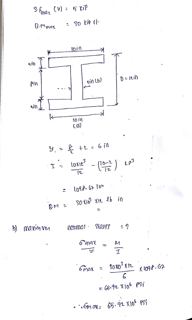 solved problem 1 20 points the steel i beam is subjecte WF Beam please with explanation