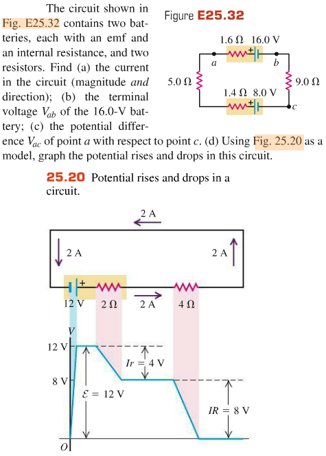 solved the circuit shown in fig e25 32 contains two batt rh chegg com