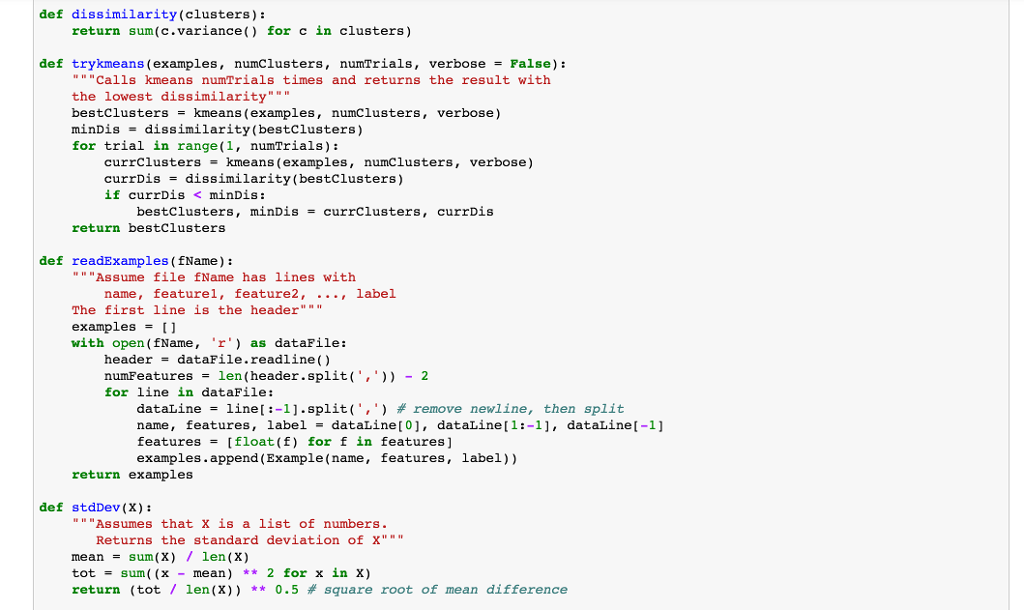 Here Is The Python Code For K-means Clustering Fro      Chegg com