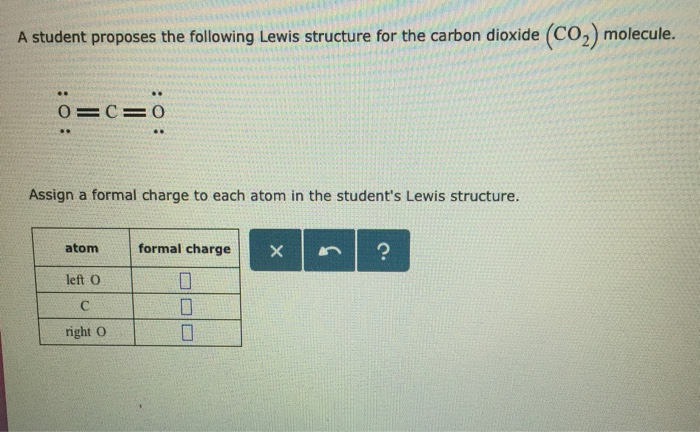 Solved A Student Proposes The Following Lewis Structure F