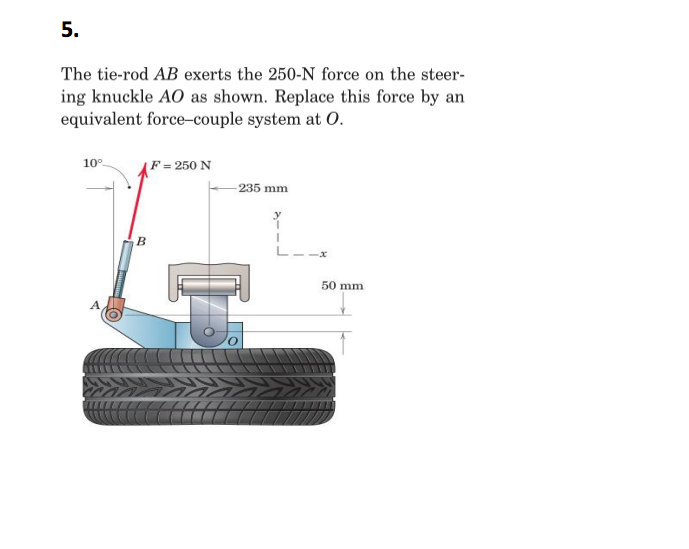The tie rod ab exerts the 2500