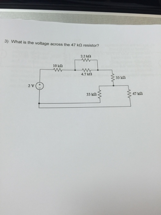 What is the voltage across the 47 kOhm resistor?