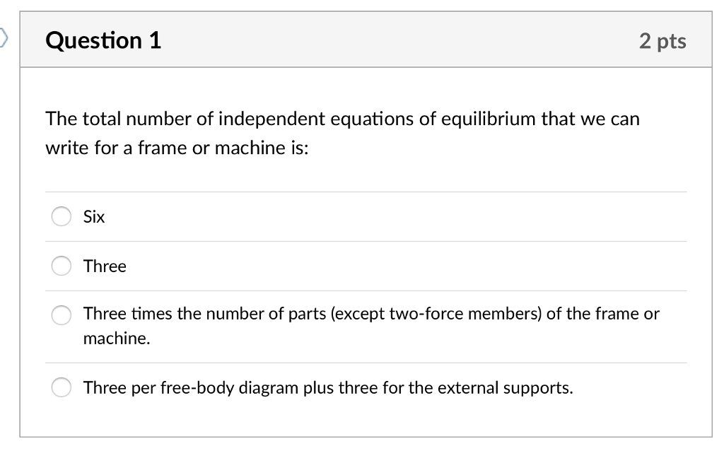 Solved: Question 1 2 Pts The Total Number Of Independent E ...