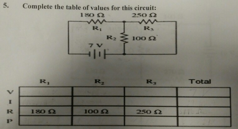 Electrical engineering archive march 07 2018 chegg complete the table of values for this circuit 250 5 180 ri greentooth Images