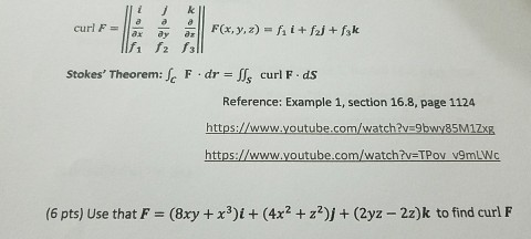 Solved: Curl F = ||i J K Partial Differential/partial Diff