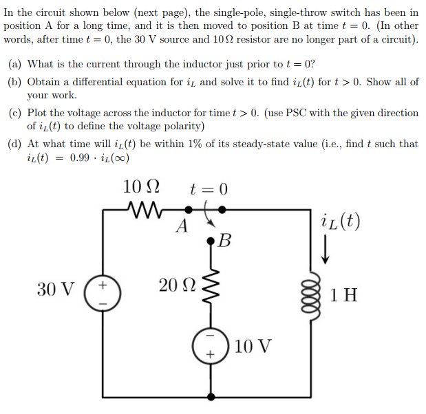 Solved: In The Circuit Shown Below (next Page), The Single ...