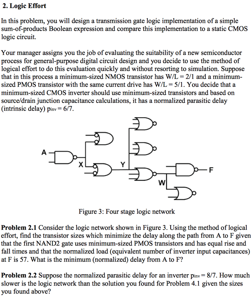 Solved Logic Effort In This Problem You Will Design A Tr Simple Circuit Transmission Gate Implementation