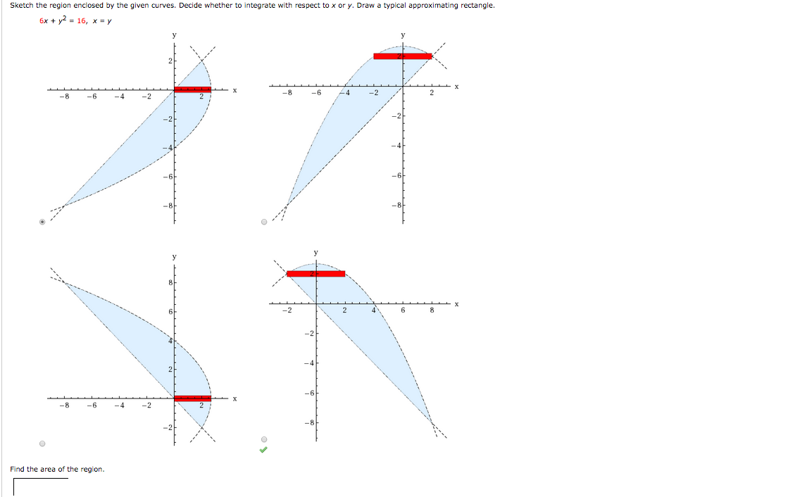 Find Area Calculus: Area Under Sketch The Region Enclosed By The Given  Curves Decide Whether