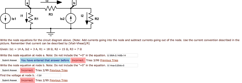 Miraculous Solved Write The Node Equations For The Circuit Diagram A Wiring Database Aboleterrageneticorg