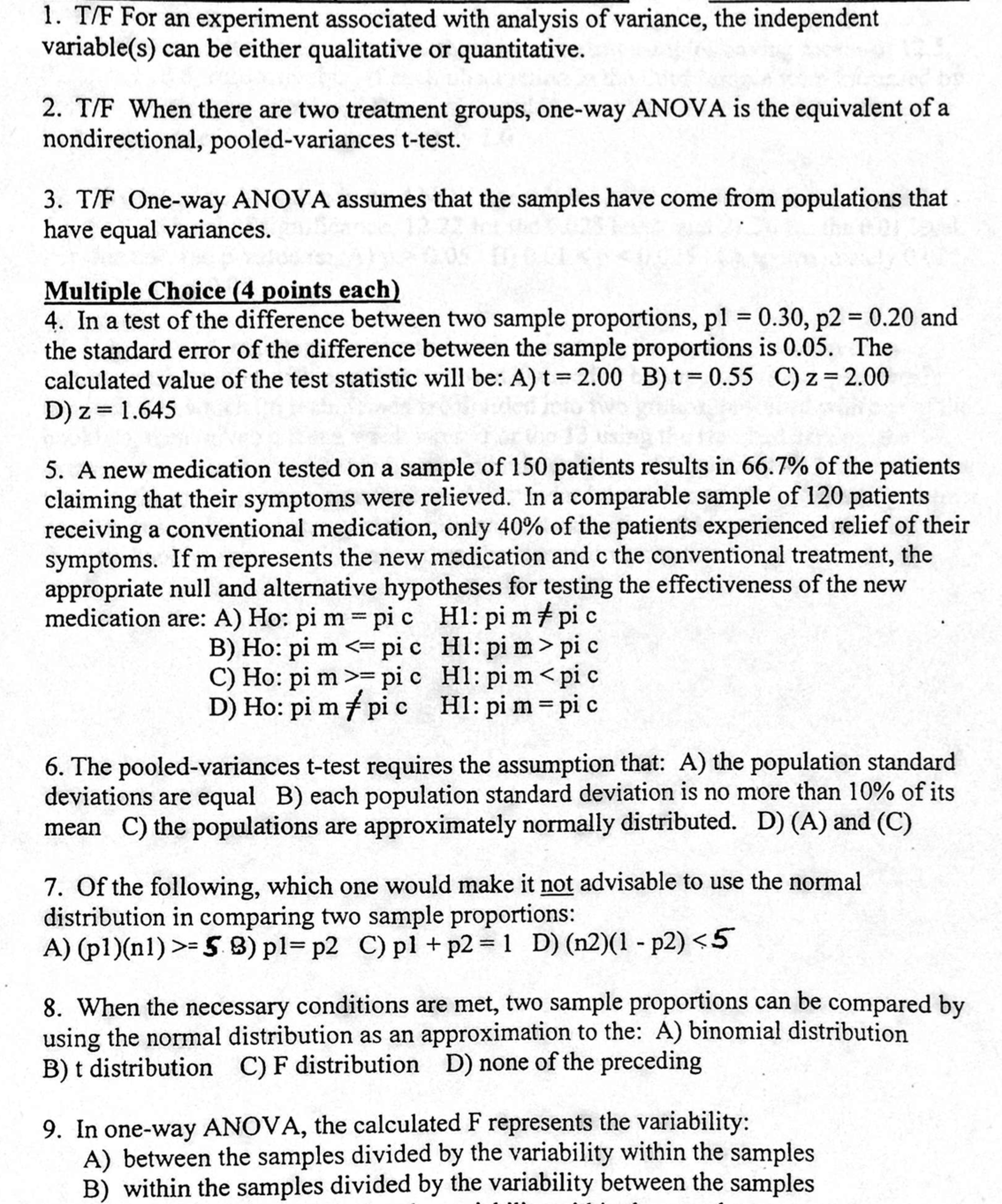 F For An Experiment Associated With Analysis Of How To Calculate Standard  Deviation
