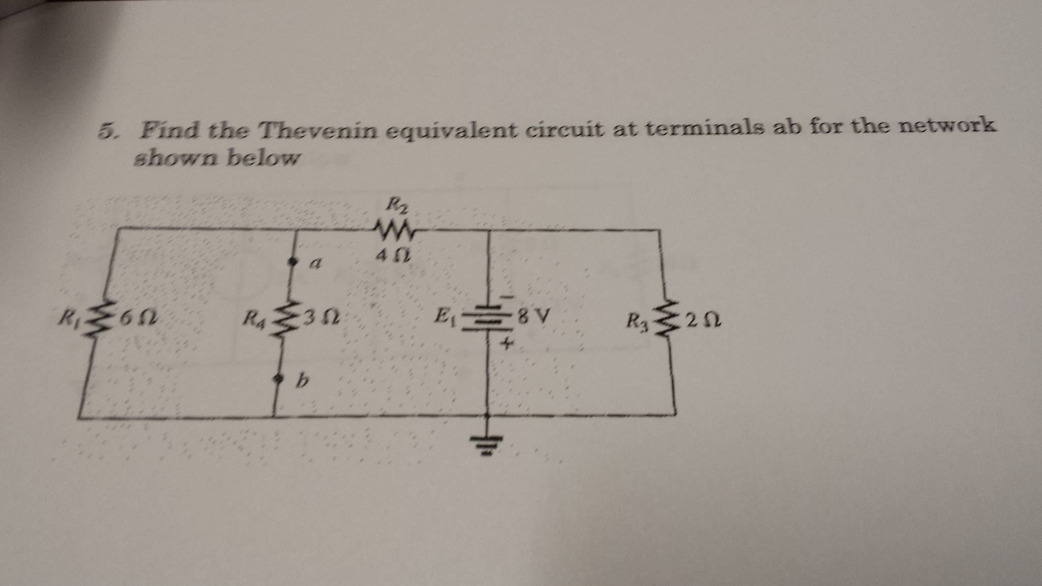 Solved Find The Thevenin Equivalent Circuit At Termin Is B Terminals