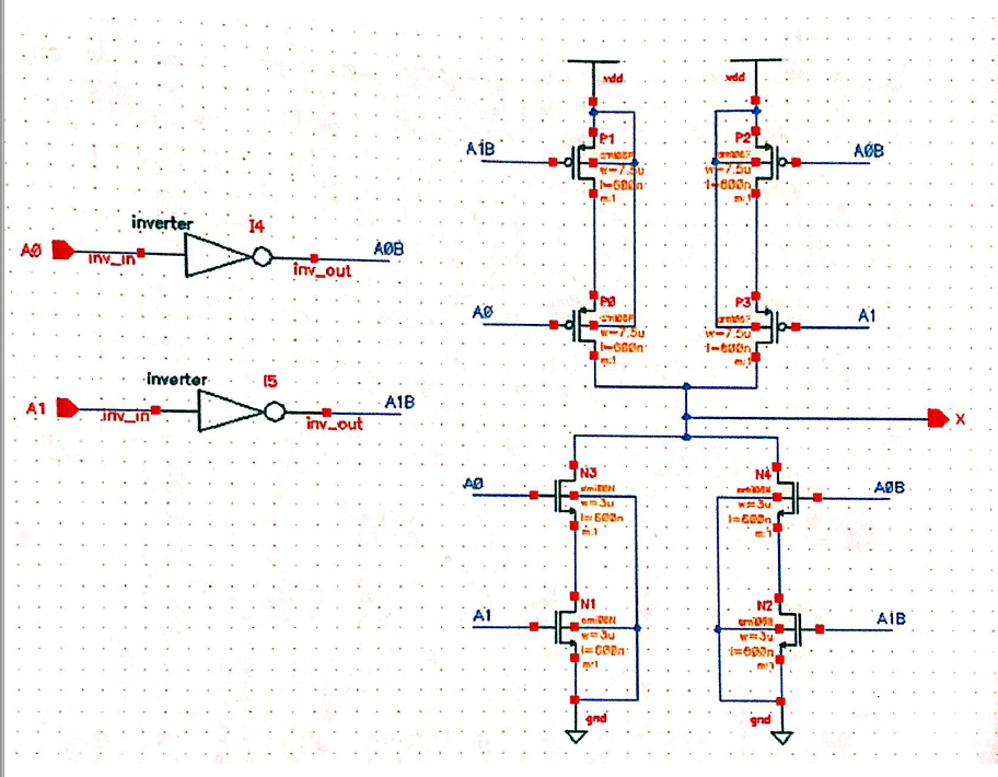Solved: CADENCE NEED HELP WITH XOR SCHEMATIC TO MATCH LAYO ... on
