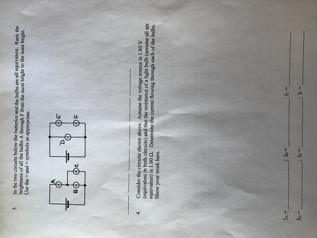 Solved In The Two Circuits Below Batteries And Bu Find Equivalent Resistance Re Of Circuit S Cheggcom Bulbs Are All