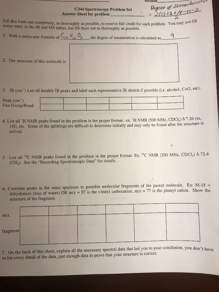 Chemistry archive february 04 2018 chegg sectioo c344 spectroscopy problem set answer sheet for problem orm out completely as thoroughly as fandeluxe