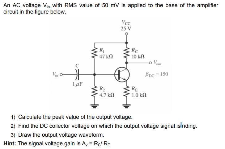 Alternating current (ac) peak voltage, peak to peak voltage, root.