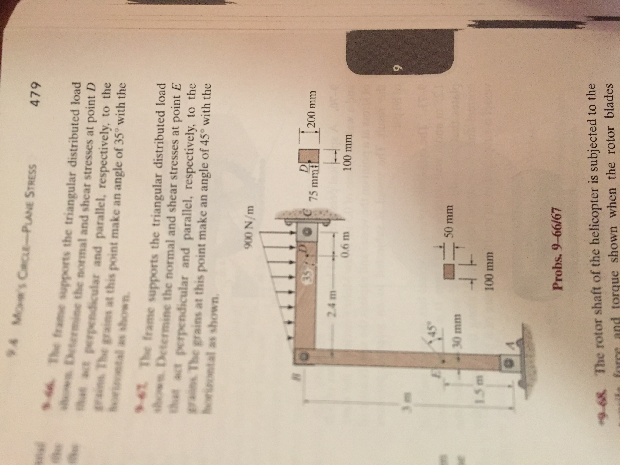 Solved: Mechanics Of Materials 10th Edition 9.67 The Frame ...