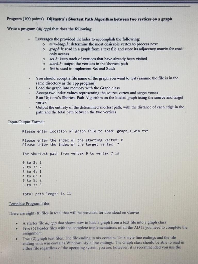 Dijkastra's Shortest Path Algorithm Between Two Ve