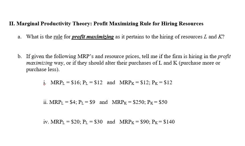 profit maximization theory