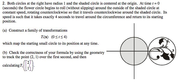 Both Circles At The Right Have Radius 1 And The Sh