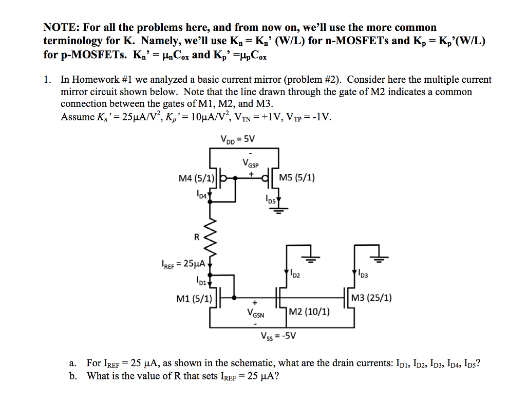 Solved 2 Now We Replace The Resistor In Circuit Of P To Use Nmosfet Instead Pmosfet Electrical Engineering See More Show Transcribed Image Text Problem 1 With A Diode Connected Pmos Device As Shown