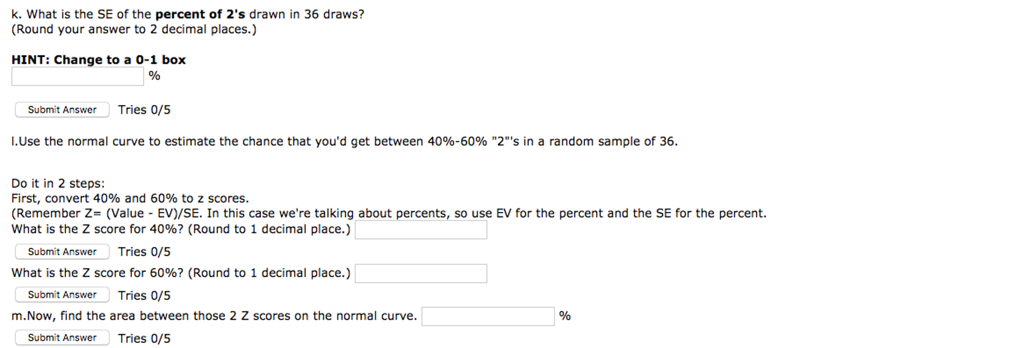 5b How Do You Use Z Scores To Find The Percentage Of Data Above Below A 1  Answer