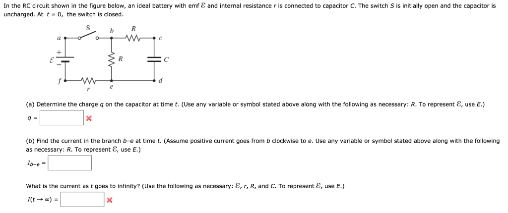 Solved: In The RC Circuit Shown In The Figure Below, An Id ...