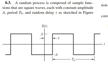 Solved: A Random Process Is Composed Of Sample Functions T