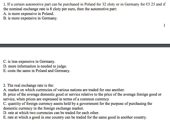 Solved: Automotive Part Can Be Purchased In Poland For 32