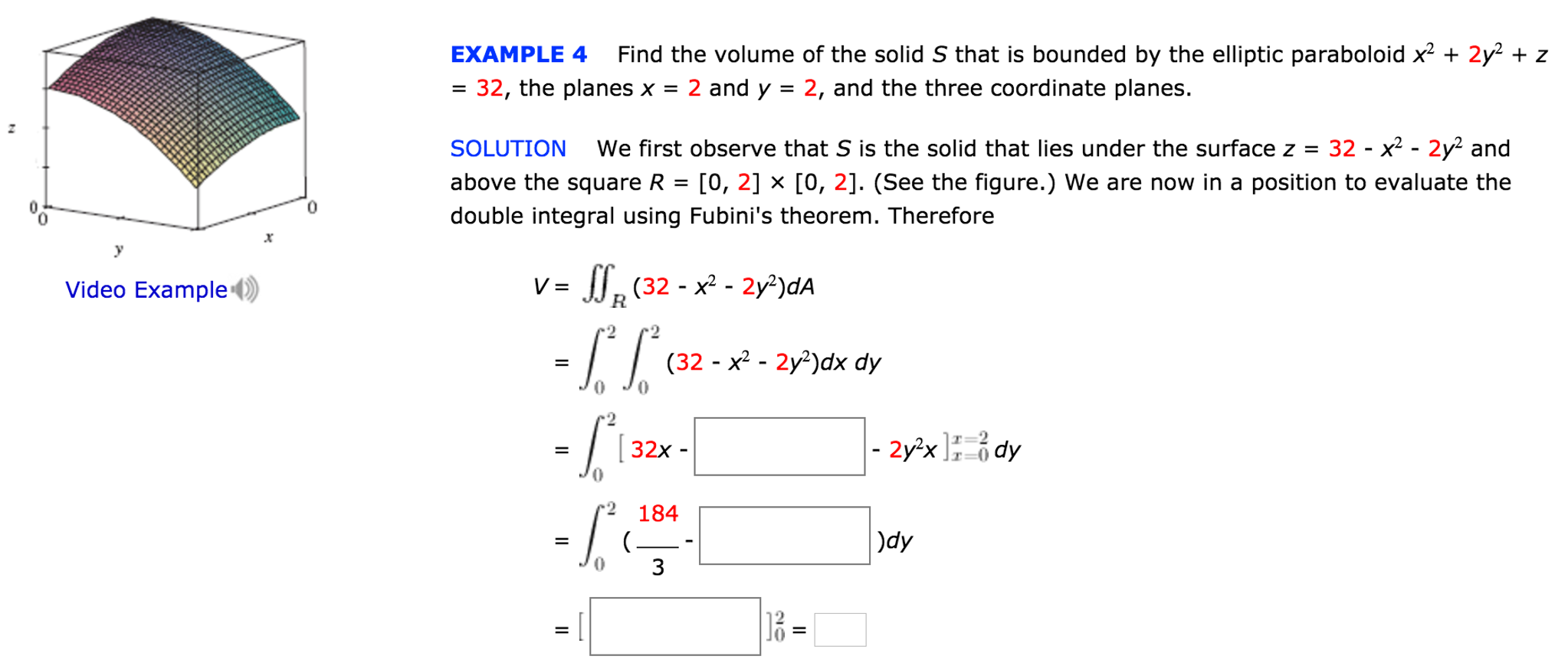 Example 4 Find The Volume Of The Solid S That Is B