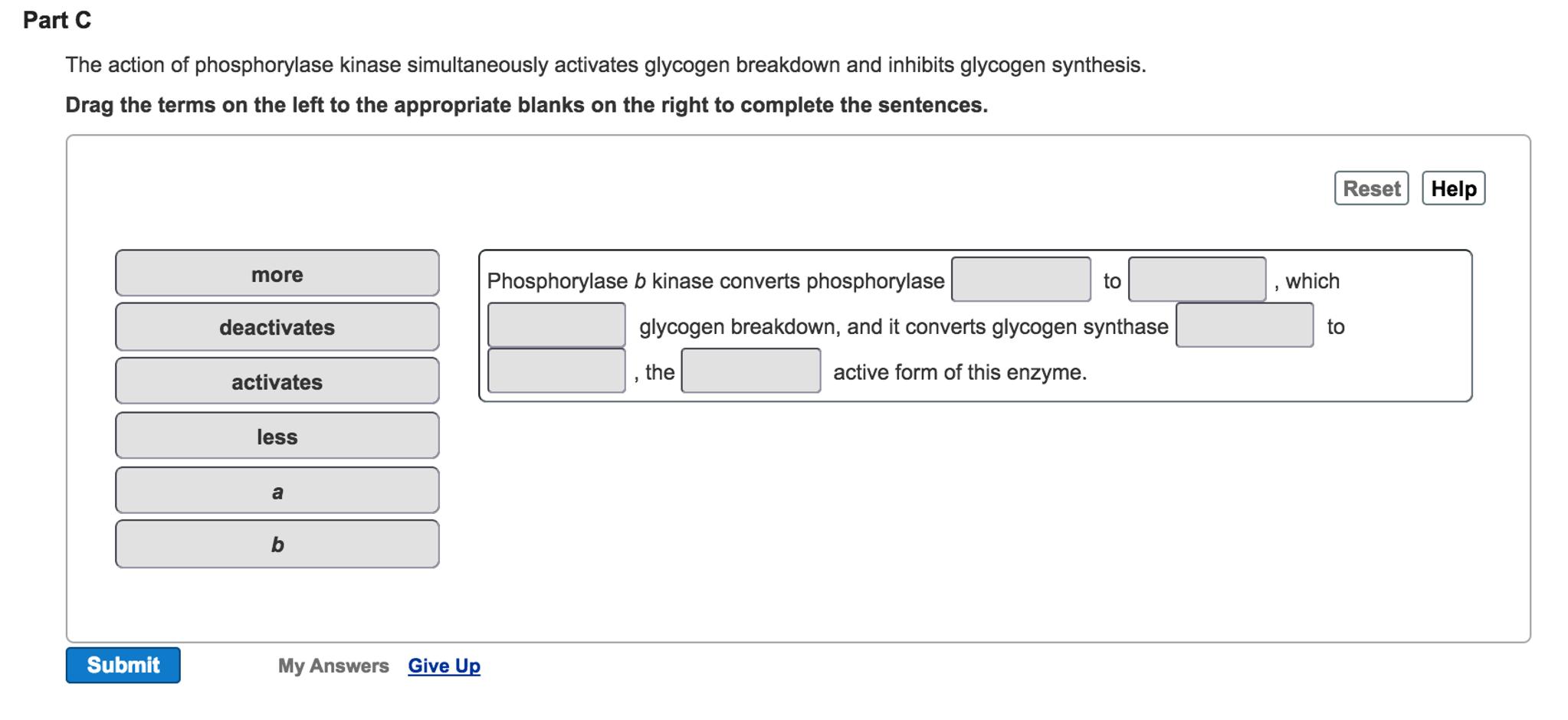 what activates phosphorylase kinase b