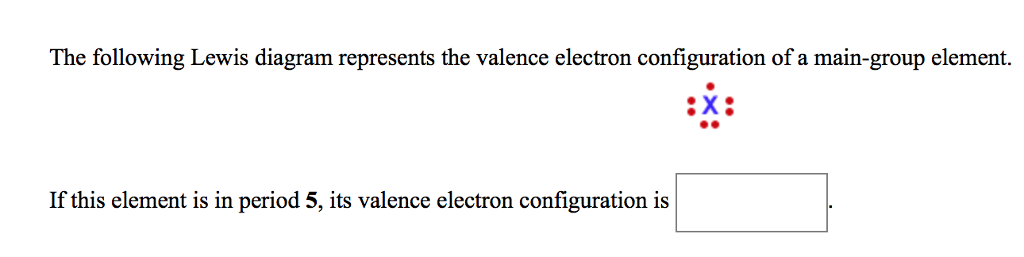 Solved The Following Lewis Diagram Represents The Valence