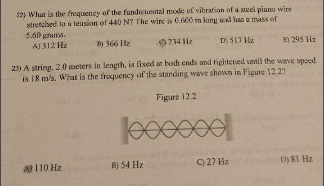 Solved: Help Me Determine The Frequency For The Following