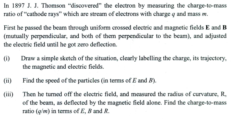 when did jj thomson discovered the electron