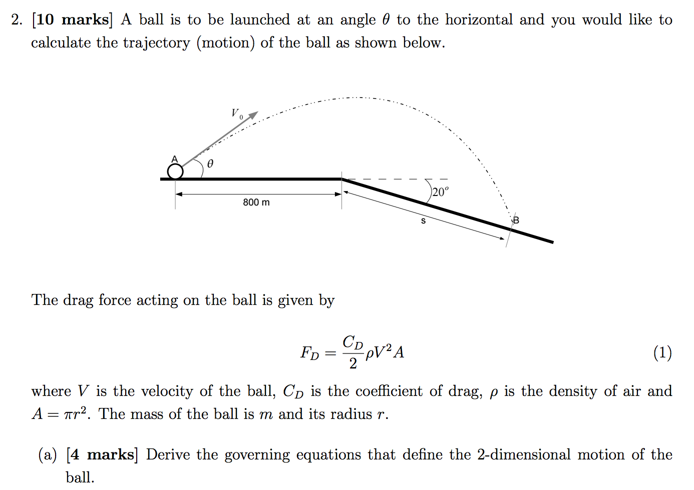 A Ball Is To Be Launched At An Angle Theta To The