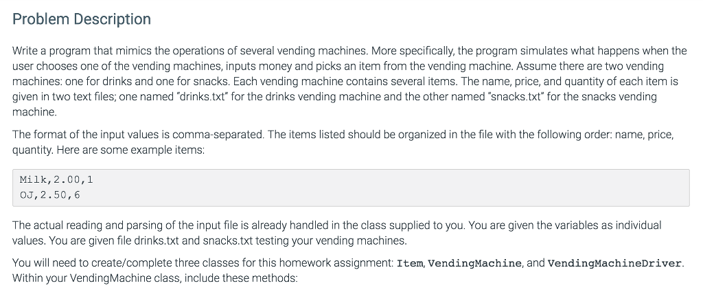 Solved: Item.Java: // This File Was Given //class To Set A ...