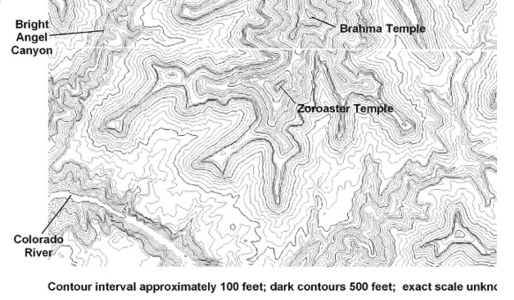 Topographic Map Grand Canyon.Solved Look At The Photograph Of The Grand Canyon And The