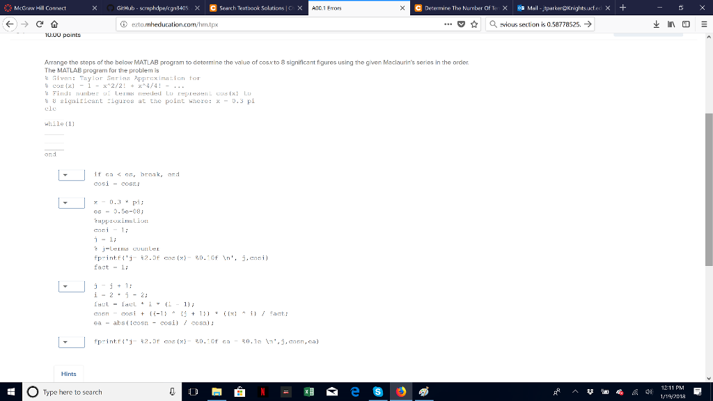 Solved: McGraw Hill Connect GitHub-Kmphdpe/cgn340sX © Sear