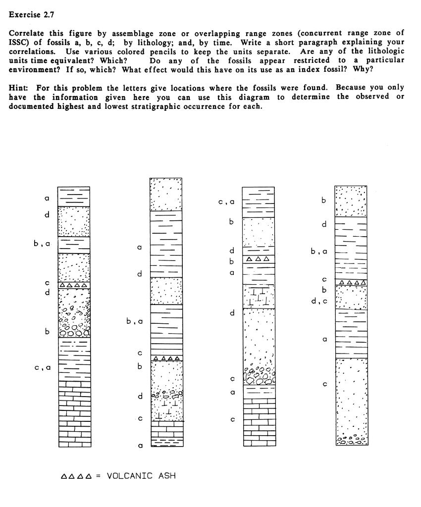 Stratigraphic correlation exercises