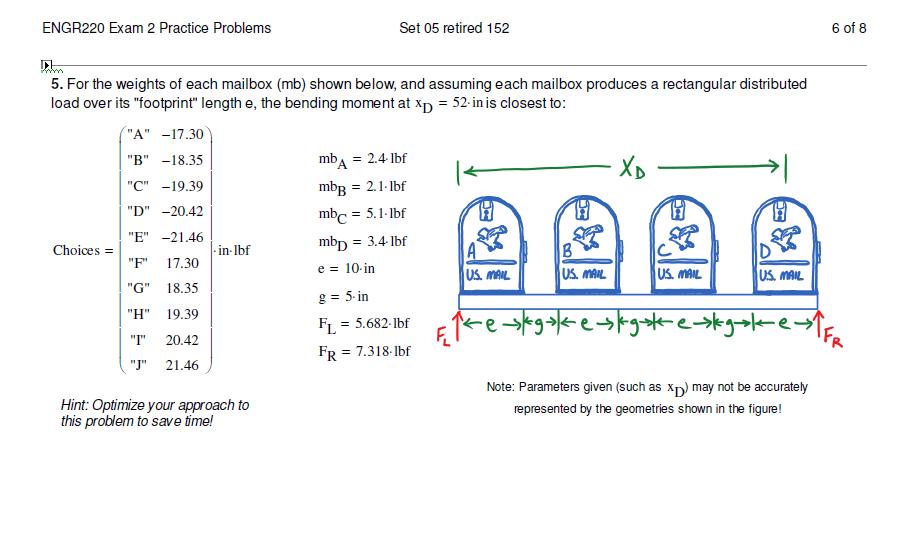 Solved Engr220 Exam 2 Practice Problems Set 05 Retired 15