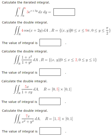 Solved: Calculate The Iterated Integral  Calculate The Dou