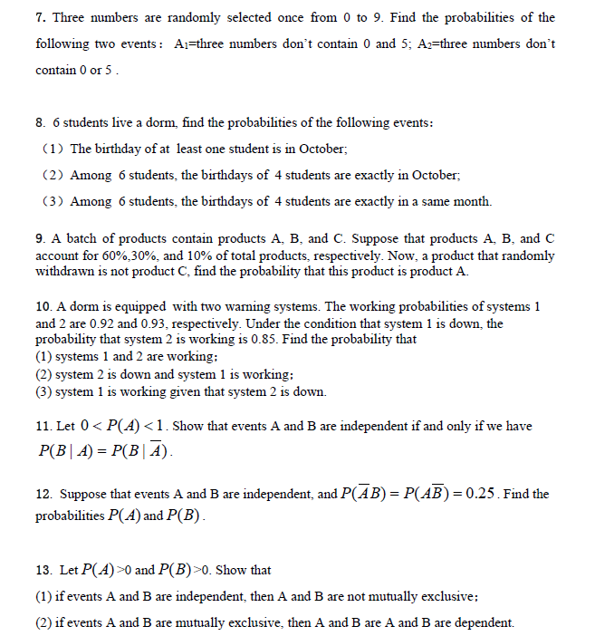 Solved: These Are Five Basic Questions About Probability A