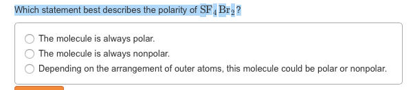 Solved: PF3I2 Is A Nonpolar Molecule. Based On This Inform ...