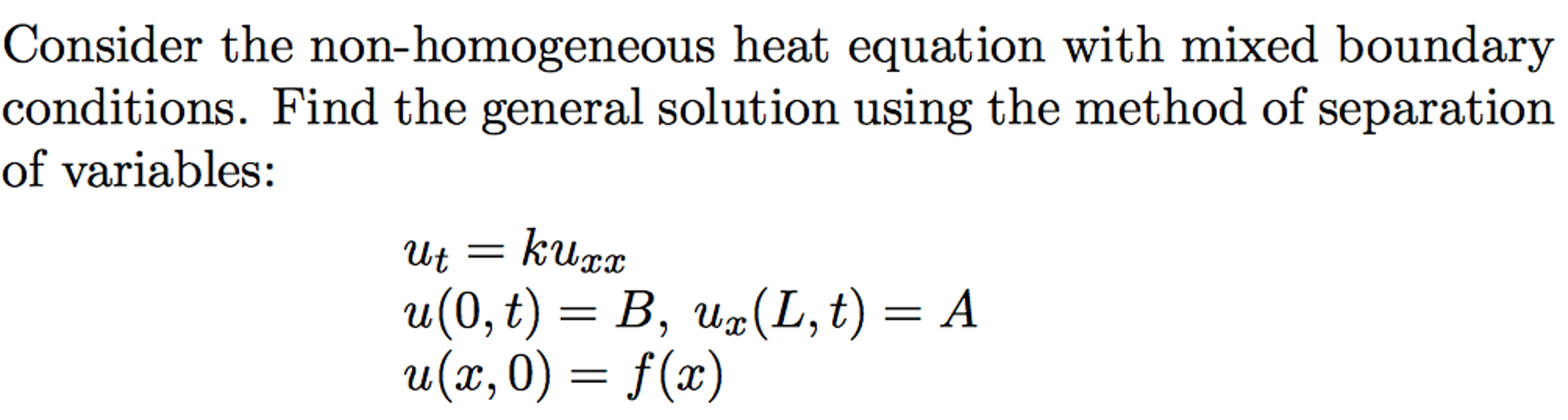 Solved: Partial Differential Equations (PDE), Non-homogene