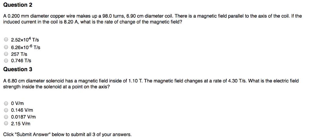 Question  200 Mm Diameter Copper Wire Makes Up A 98  90 Cm
