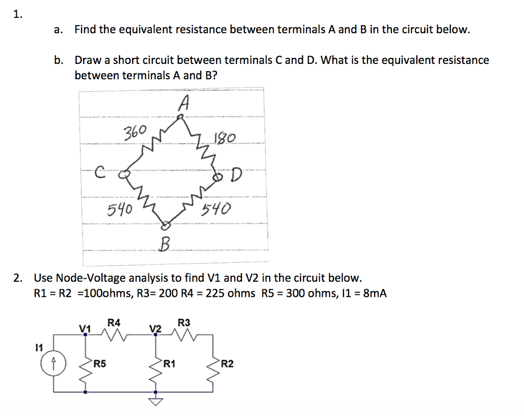 Solved Find The Equivalent Resistance Between Terminals A How To Short Circuit See More Show Transcribed Image Text And B In Below Draw