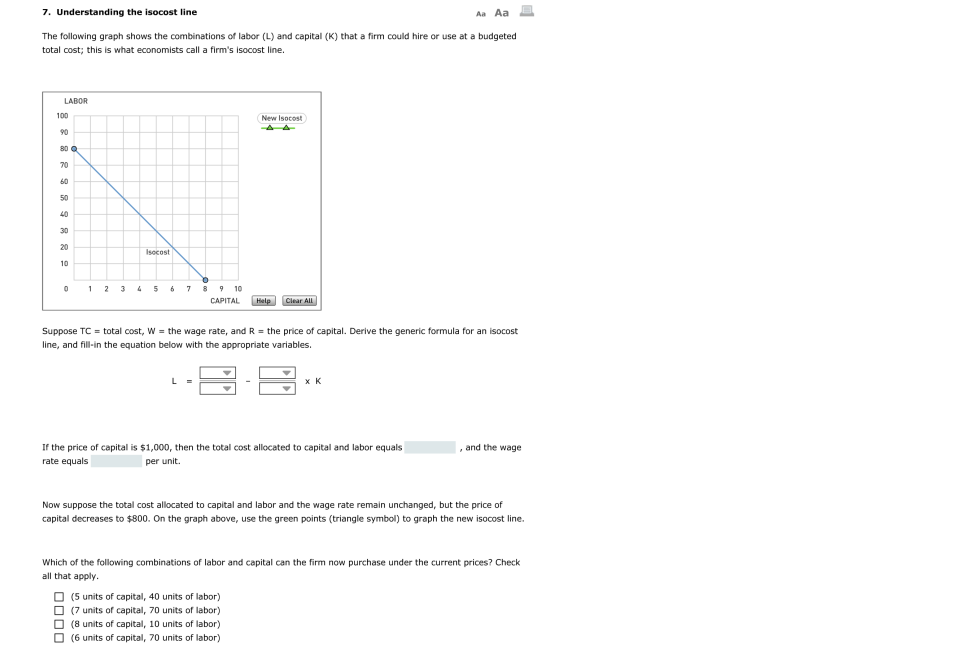 show how producers equillibruium is achieved with isoquants and isocost curves