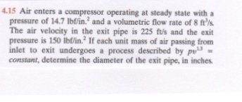 Air enters a compressor operating at steady state