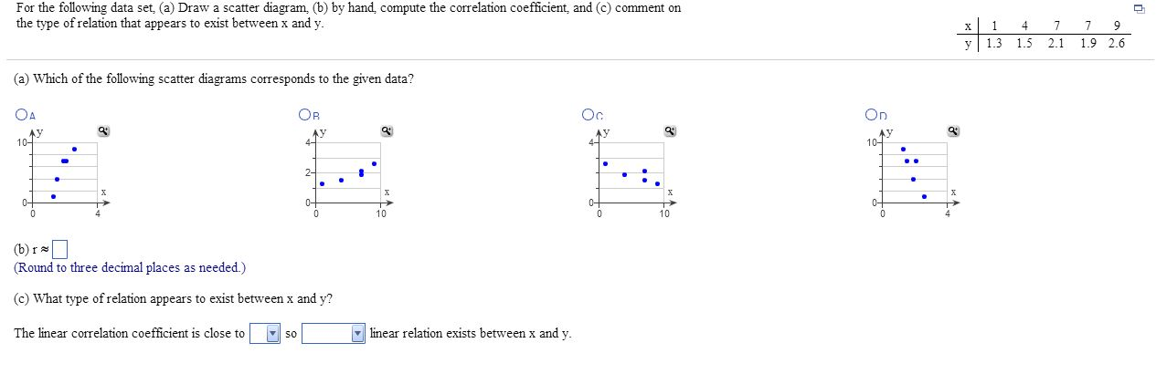how to compute the whole data set coefficient