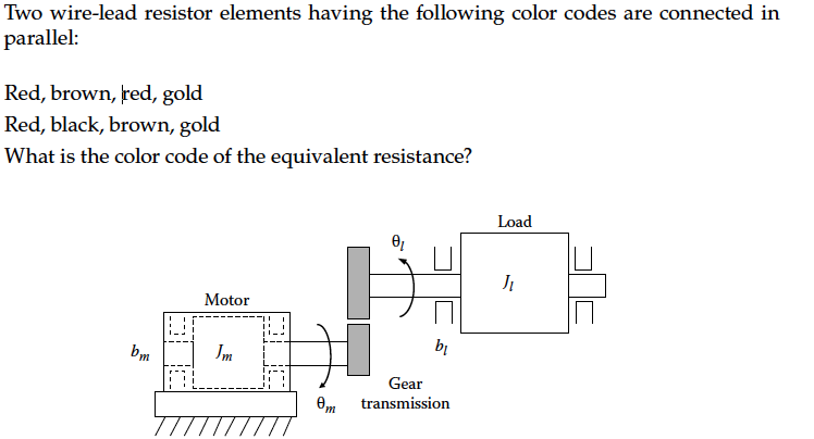 Solved: Two Wire-lead Resistor Elements Having The Followi